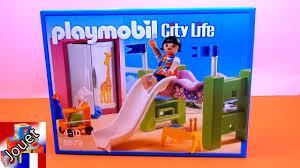 chambre d enfant playmobil playmobil city chambre à coucher d enfant avec un lit en