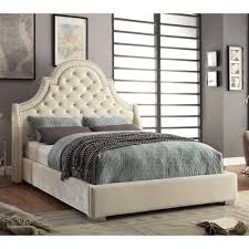 Meridian Bedroom Furniture by Meridian Furniture Madison Madison Velvet Bed The Mine