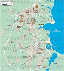 Corsica Map Porto Vecchio Corsica France Cruise Port Of Call