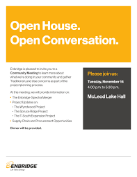 Open House Invitation Upcoming Events Mcleod Lake Indian Band