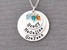 personalized mothers necklace personalized mothers necklace accordion necklace