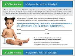 pledge cards template first 5 california town hall tool kit