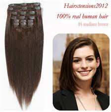 human hair extensions clip in 18 26 inch clip in human hair extensions real human hair 7pcs 1b