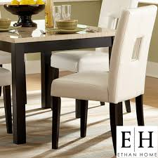 mendoza keyhole back dining chairs by inspire q set of 2 by