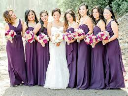 purple bridesmaid dresses top trending color themes for bridesmaid dresses 2016 and 2017
