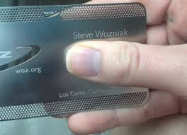 apple business card apple co founder steve wozniak on his favorite apple products