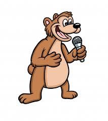 imagenes animadas oso oso personaje de dibujos animados cantando descargar vectores premium