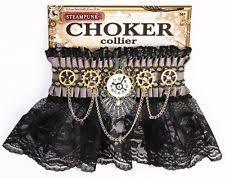 steampunk victorian era gears chains lace choker costume