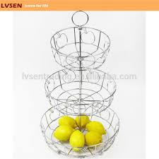 3 tier fruit basket stainless steel hanging metal wire 3 tier fruit basket buy 3 tier