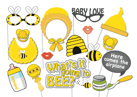 to bee baby shower bumble bee baby shower photo booth party props set 17