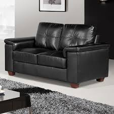 Black Leather Sofas Windsor Black Leather Sofa Suite Collection