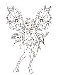 winx bloom coloring pages girls