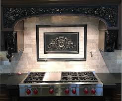 metal murals for kitchen backsplash fleur de lis plaque