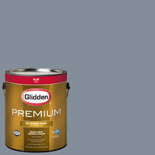 glidden premium 1 gal hdgv16 bonnie blue eyes flat latex