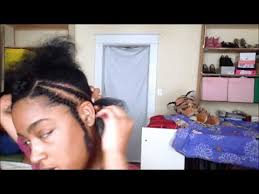 how to braid hair with middle part braid pattern for a middle part sew in part 1 corinne424 youtube