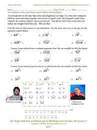 rr 1 introduction to radicals and radical functions including