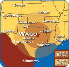 waco map map showing waco