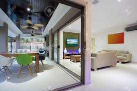 home interior lights stylish open home interior with colourful furniture and led lights
