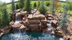 aquascapes pools aquascape pools backyard cliff diving super rough cut youtube