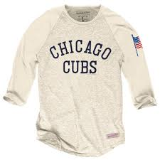 Chicago Flag Apparel Chicago Cubs Cream Sleeve Raglan T Shirt By Mitchell U0026 Ness At