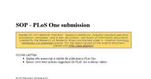 sop plos one submission google docs