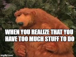 Bear Stuff Meme - too much stuff to do imgflip