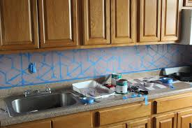 easy diy kitchen backsplash how to paint a geometric tile kitchen backsplash