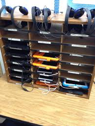 diy classroom charging station for ipads headphones and other