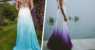 dip dye wedding dress these daring brides are dip dyeing their wedding dresses theberry