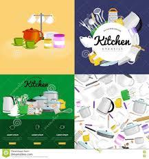 kitchenware utensils set vector illustration of kitchen utensil
