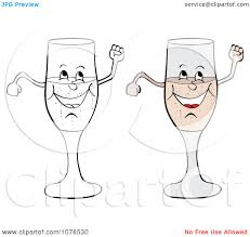 champagne glasses clipart clipart colored and outlined happy champagne glasses royalty