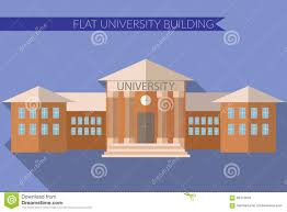 flat design modern vector illustration of university building icon