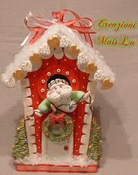 casetta di babbo natale my works christmas time pinterest