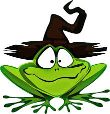 clipart frog wearing witch u0027s hat