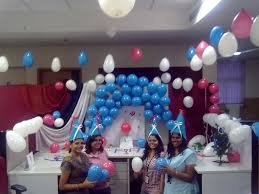 cubicle decoration with balloons 10 years at paladion