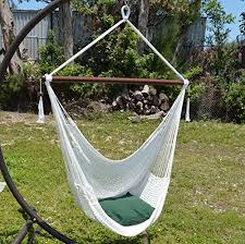 caribbean hammocks large 48 inch polyester hammock chair white