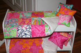 Lilly Pulitzer Furniture by American Doll Quilt Made With Lilly Pulitzer Fabric