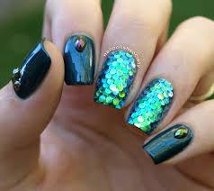 nail polish society 31dc2014 day 17 mermaid scales glitter