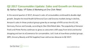 Click And Grow Amazon Consumables Q2 2017 Sales U0026 Growth On Amazon