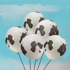 cow print balloons 25pcs black white animal cow print balloons birthday party