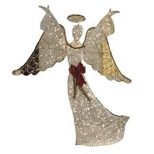 lighted angel christmas decoration shop holiday living pre lit angel with constant clear white