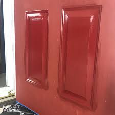 Front Door Red by Painting Our Front Door Passionate Red Project Goble