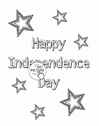celebrate happy independence day coloring page for kids coloring