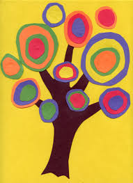 kandinsky trees great idea for earth day students cut out a tree