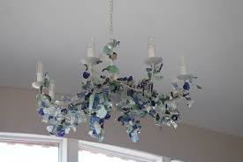 Sea Glass Chandelier The Living Area U2014 Luxury Beach Cottage Self Catering Accommodation