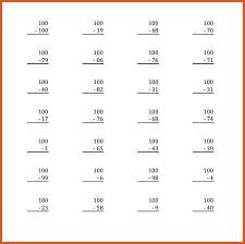 substraction across zeros worksheet subtracting across zeros