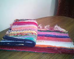 Handmade Rag Rugs For Sale Handmade Rag Rug Etsy