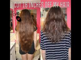 cut and inch off hair i cut 16 inches off my hair youtube