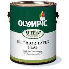 shop olympic white flat latex interior paint actual net contents
