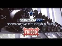 dallas cowboy ribbon ribbon cutting at the in frisco dallas cowboys show